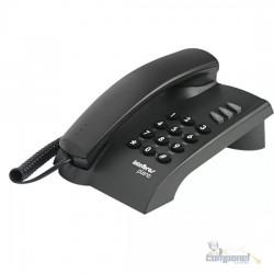 Telefone Intelbras Pleno com Fio Preto